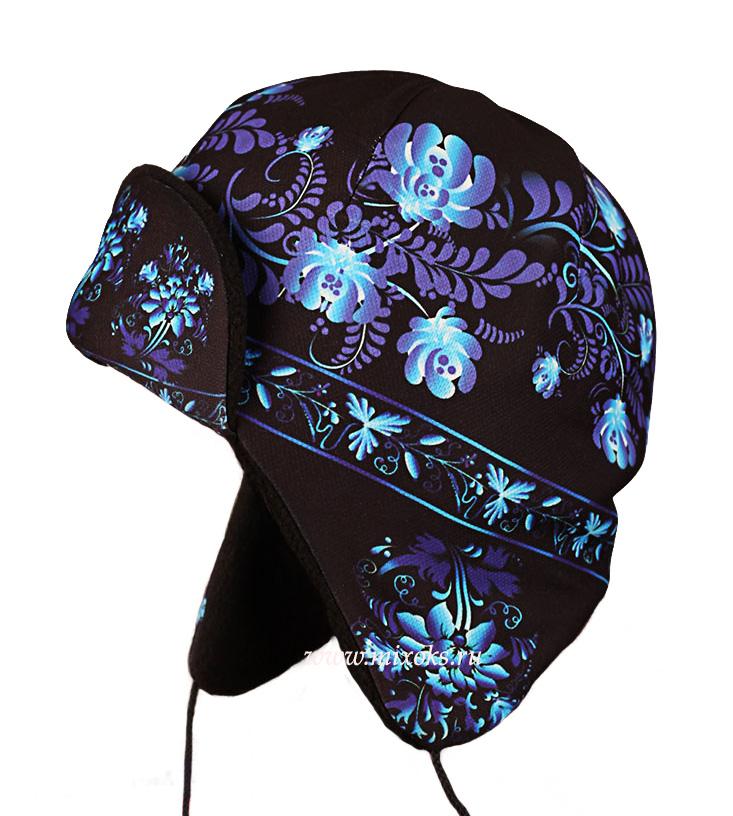 шапка ушанка гжель